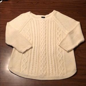 Cynthia Rowley cable knit sweater